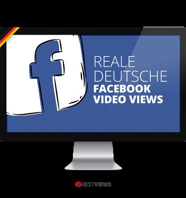 Facebook reale deutsche Video Views kaufen